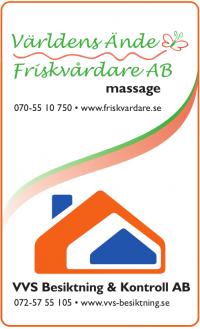 VVS Besiktning & Kontroll AB/Världens Ände Friskvårdare AB