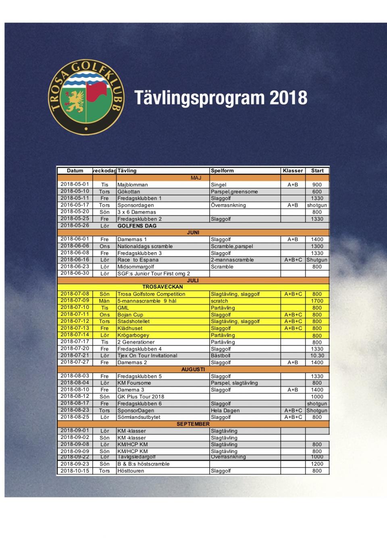 Tävlingsprogram 25,6