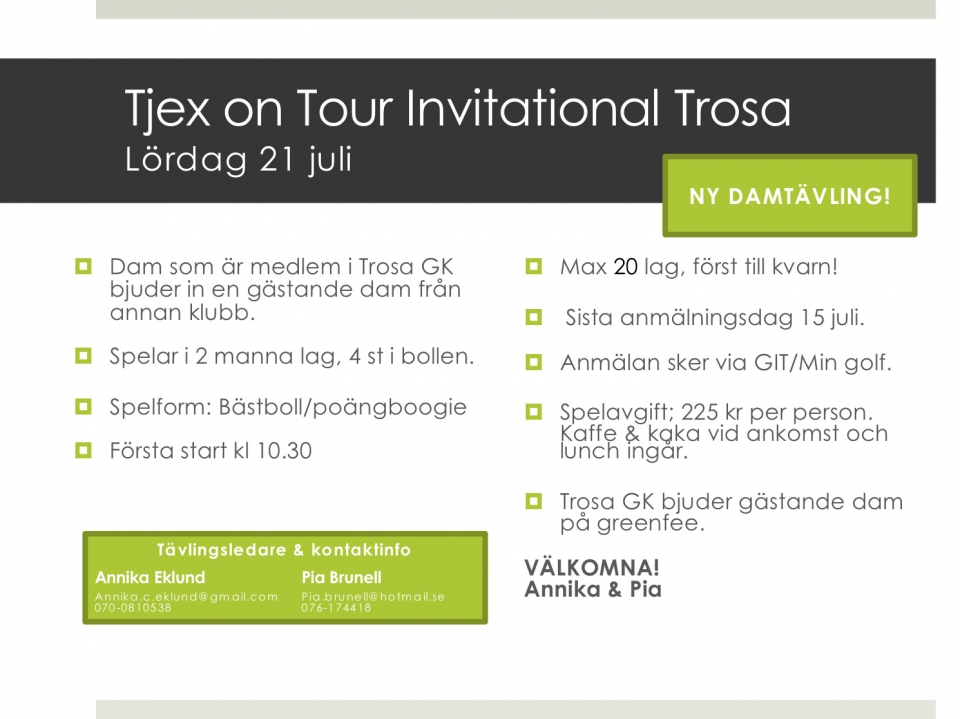 Tjexontour info