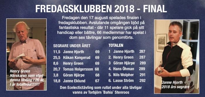 fredagsklubben final 2018