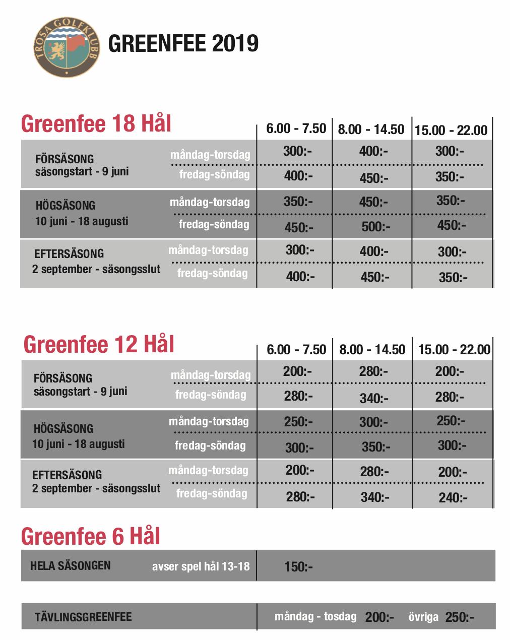 Greenfee 2019